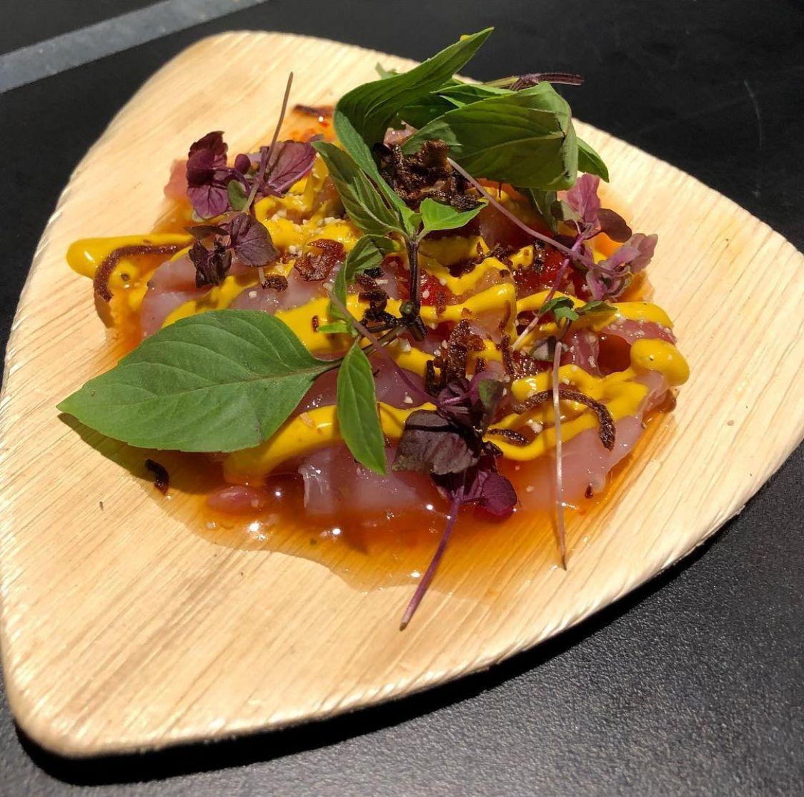 Tiki Thai Kingfish sashimi Thai style