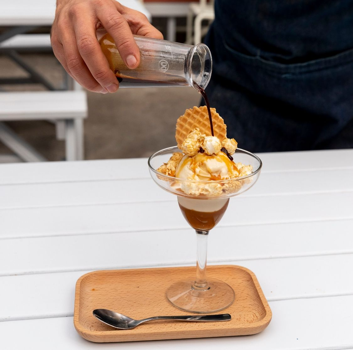 Good Karma and Little Lato Salted Caramel Affogato with