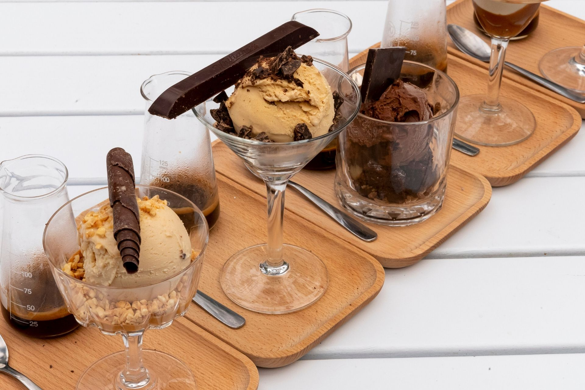 Good Karma Coffee affogato platter