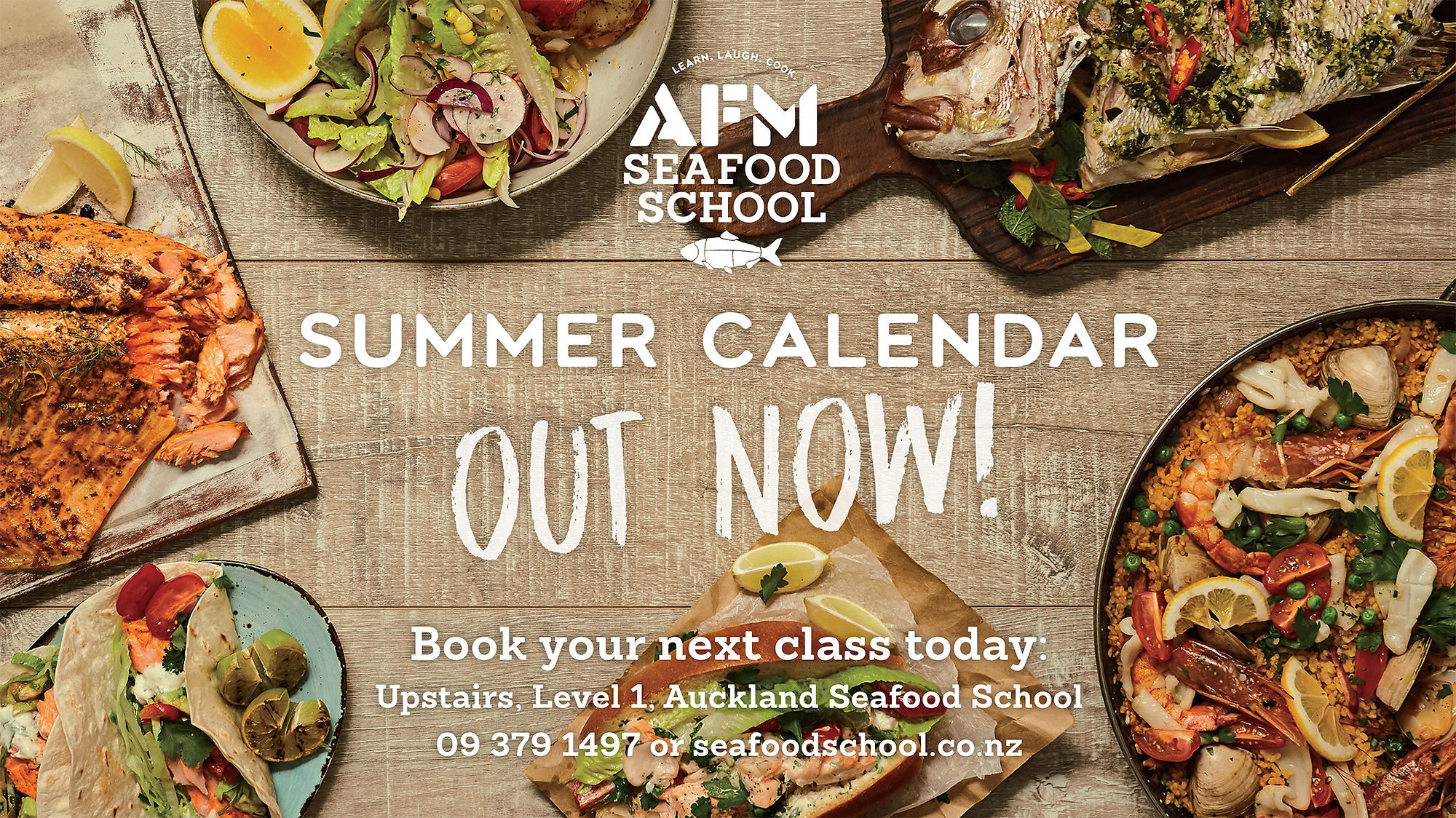 Auckland Seafood School Summer calendar cooking classes