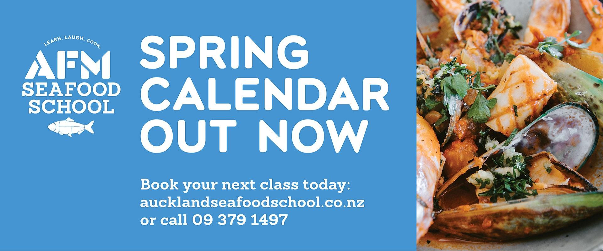 Spring Calendar - Seafood School